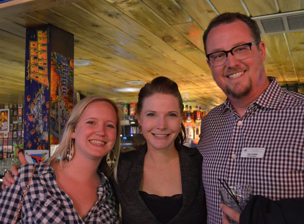 Cassie Tanner (left) with Samantha Walsh and Sam DeWitt at the Legislative Showdown event in 2015.