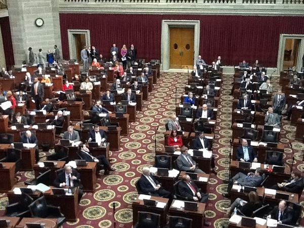 Floor of the Missouri House, which sent three bills to the Senate on Wednesday.