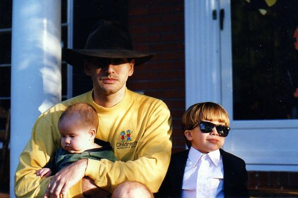 Raymond Barfield pictured with his son Micah and daughter Alexandra.