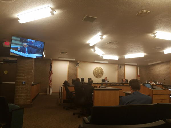 Fort Myers City Council chambers before it's briefed on an assessment of the Dunbar dumpsite.