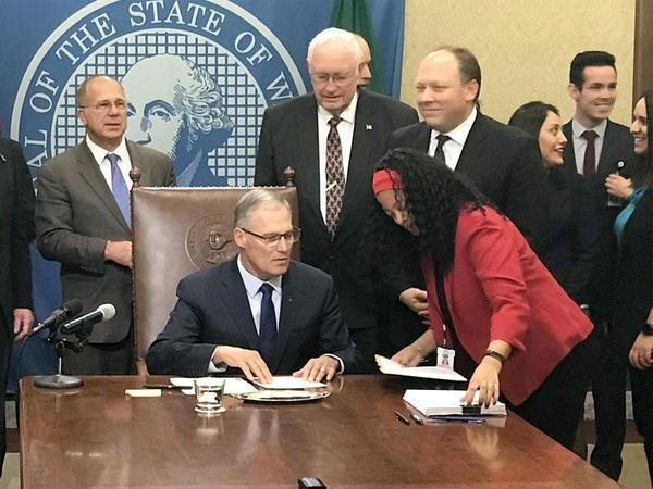 Washingotn Gov. Jay Inslee signed the state's $4.3 billion capital construction budget Friday.