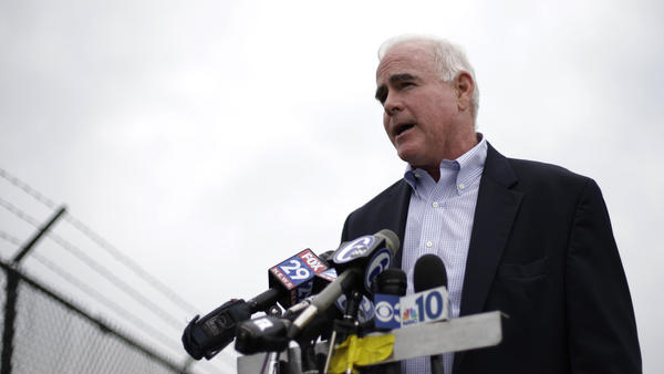 Rep. Patrick Meehan R-Pa., speaks during a news conference in 2012. A report Saturday said he used taxpayer money to settle a harassment complaint.