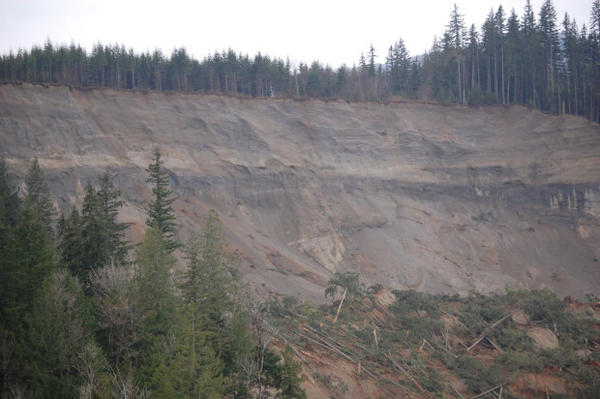 File photo of the Oso landslide, taken in March, 2014.