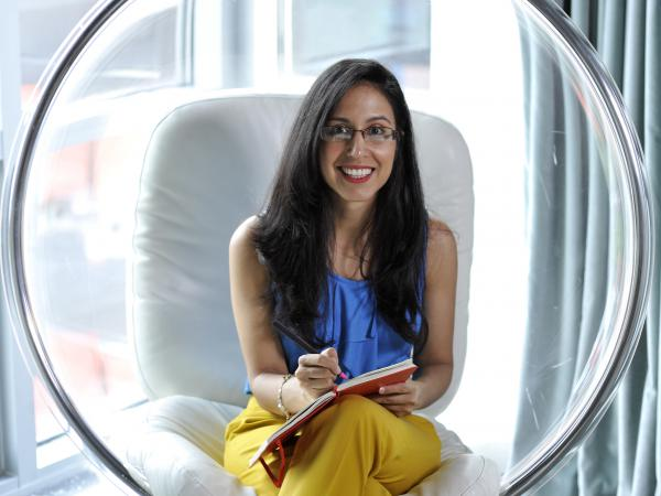 """""""Being a freelancer, you really have to be on top of your emotional and mental health,"""" says Carolina Salas, a New York City freelance marketing expert."""