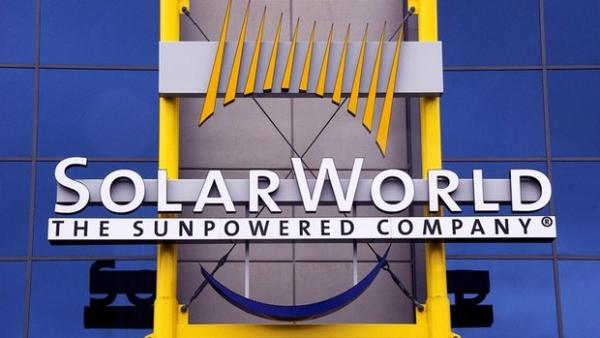 Entrance to SolarWorld in Hillsboro, Oregon. The company is among victims in a cyberspying campaign the U.S. Department of Justice say Chinese officials used to steal trade secrets.