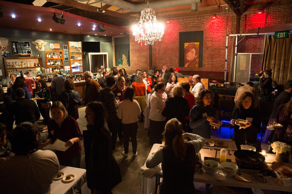 """The crowd of diners at the Trefa Banquet 2.0 event. """"Today, American Jews remember the [original 1883] meal as a statement about the values of the reform movement,"""" says Rachel Gross, a professor of Jewish Studies at San Francisco State University."""