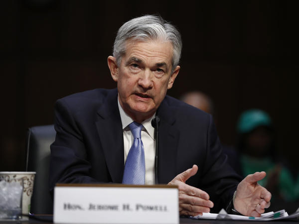 Jerome Powell, President Trump's pick for chairman of the Federal Reserve, testifying before a Senate committee in November 2017. He was confirmed by the full Senate on Tuesday.