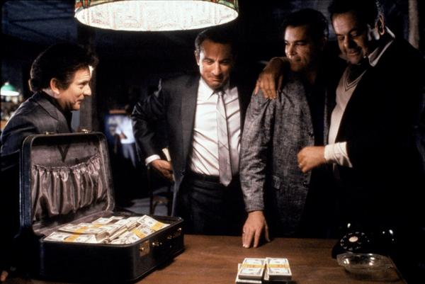 "Gangster films like ""Goodfellas"" (1990) that center around organized crime are ultimately all about the money."