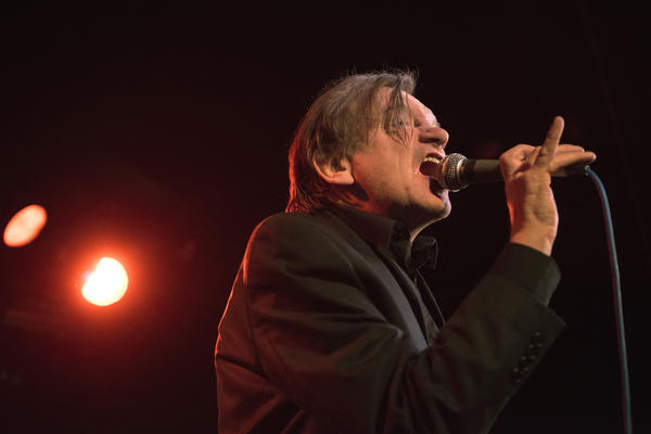 Mark E. Smith onstage with The Fall in London in 2016.