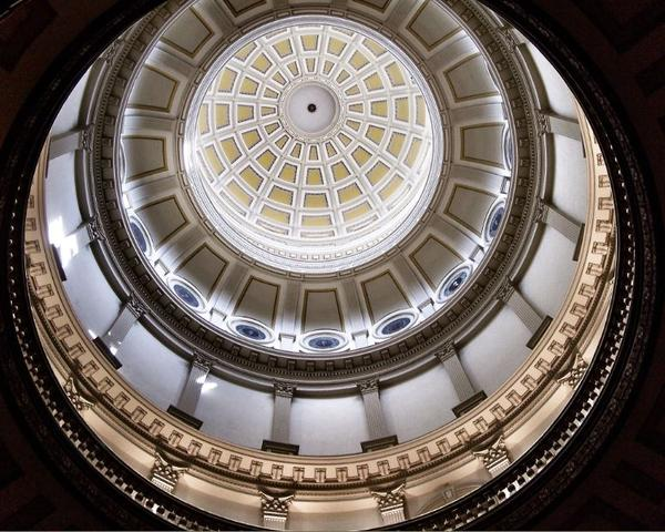 Under the dome of Colorado's Capitol building.