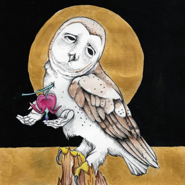 "Kevin Morby and Katie Crutchfield's digital 7"" artwork, done by Will Schaff."
