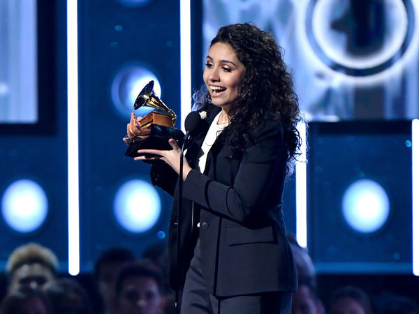 Alessia Cara accepts the award for Best New Artist onstage during the 60th Annual GRAMMY Awards.