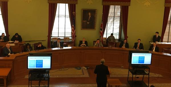 Sen Matt Huffman testifies to Senate Committee