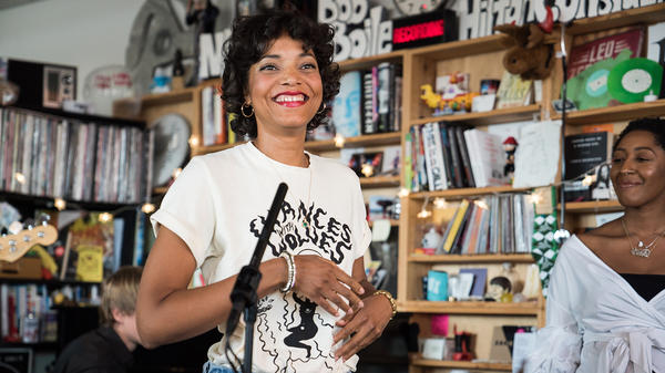 Alice Smith performs a Tiny Desk Concert on August 9, 2017. (Photo: Liam James Doyle/NPR)
