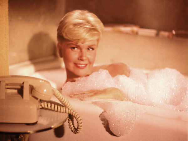 <em>Pillow Talk</em> stars Doris Day (above) and Rock Hudson as a pair of strangers who butt heads and fall in love on a shared telephone line.