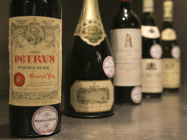 French President Francois Hollande's palace has decided to dive into its wine cellar and sell some of its treasures to raise money and replenish its collection with more modest vintages. About 1,200 bottles, a 10th of the Elysee's wine collection, are being sold at the Drouot auction house in Paris this week.