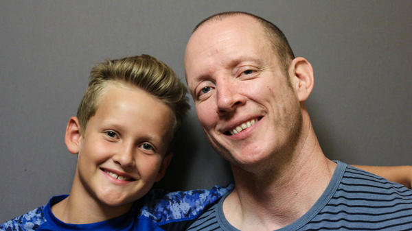 Josh Hanagarne, 39, and his son Max, 9, recently sat down at StoryCorps to talk about Tourette's syndrome. Josh has dealt with Tourette's since he was Max's age and while Max hasn't been officially diagnosed, he has started to show symptoms, too.