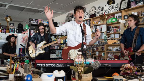 Marlon Williams performs a Tiny Desk Concert on August 2, 2017. (Photo: Liam James Doyle/NPR)