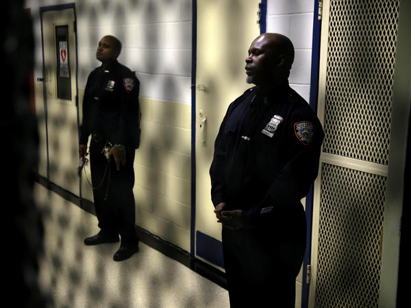 Corrections officers at the Rikers Island jail complex in New York. The City of New York will pay up to $5 million in the settlement of a class action lawsuit.