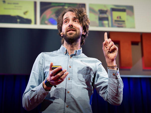 Jamie Bartlett on the TED stage