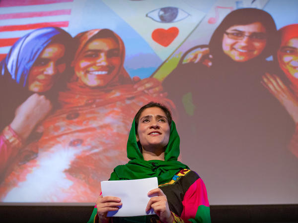 Shabana Basij-Rasikh on the TED stage