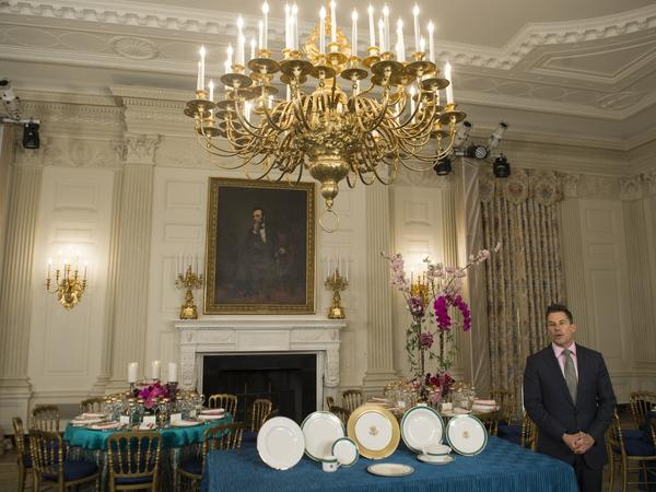Jeremy Bernard speaks about the Japanese state dinner in the State Dining Room of the White House in 2015, on the eve of the dinner.