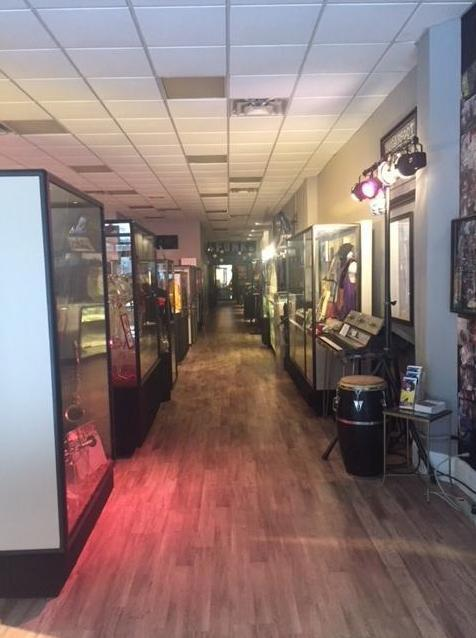 The Funk Music Hall of Fame features instruments and memorabilia from funk music greats.
