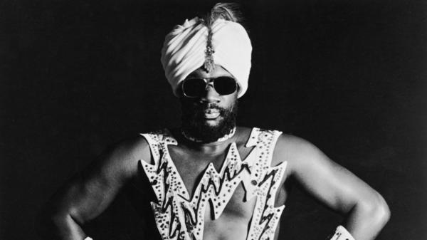 Isaac Hayes, seen here in a photo from the 1970s, is one of the funk pioneers honored in the Funk Music Hall of Fame.
