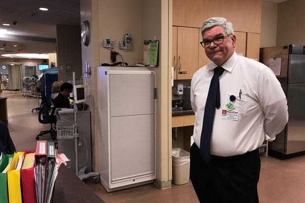Dr. Thomas Brabson, chairman of emergency services at AtlantiCare Regional Medical Center in Atlantic City, N.J., has started an alternatives-to-opioids program in his hospital's ER that's modeled after St. Joseph's University Medical Center's program.