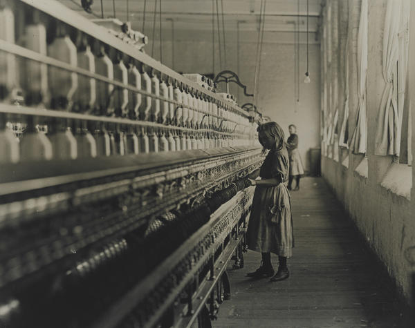 Lewis Wickes Hine's <em>Child Labor</em> shows young Sadie Pfeifer at Lancaster Cotton Mills in South Carolina.