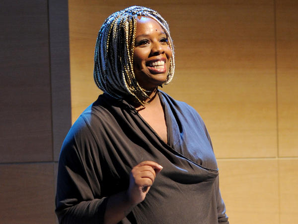 Black Lives Matter co-founder Patrisse Khan-Cullors, speaking at a November 2017 engagement in Brooklyn, N.Y., has released a new memoir.