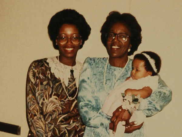 Sharon Brangman poses with her mother, Ruby Brangman, who holds her granddaughter, Jenna Lester, in 1988. All three women entered the medical field.
