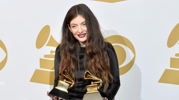 Lorde, seen here at the 2014 Grammy Awards, is the only woman nominated in this year's album of the year category.