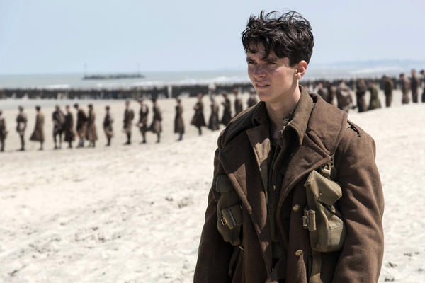 """This image released by Warner Bros. Pictures shows Fionn Whitehead in a scene from """"Dunkirk."""" (Melissa Sue Gordon/Warner Bros. Pictures via AP)"""
