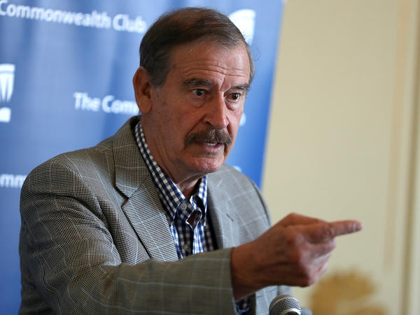 Former Mexican President Vicente Fox spoke with NPR about his book, <em>Let's Move On: Beyond Fear & False Prophets. </em>The book highlights the North American Free Trade Agreement between the U.S., Mexico and Canada<em>.</em>