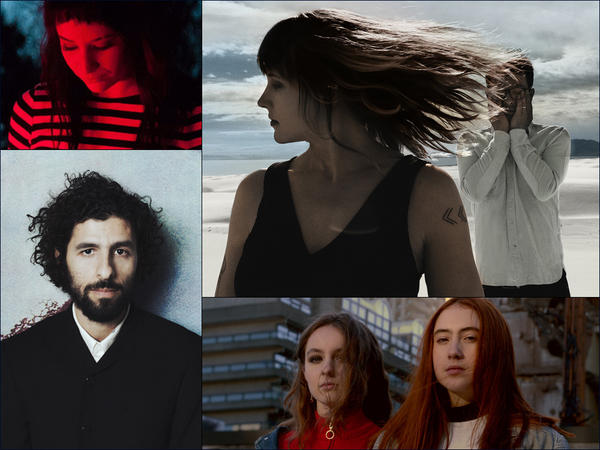 Clockwise from upper left: Many Rooms, Wye Oak, Let's Eat Grandma, José González.