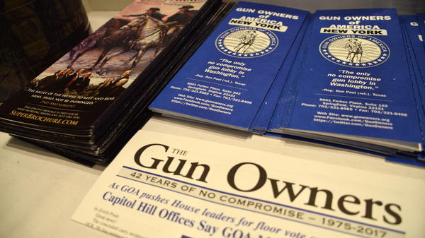 The Gun Owners of America – which has been described as a more extreme version of the NRA – recruited members for its New York chapter at the Albany Gun Show.