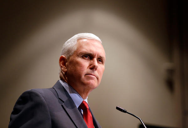 Then-Gov. Mike Pence announced in 2015 that the Centers for Medicare and Medicaid Services had approved Indiana's waiver to experiment with Medicaid requirements.