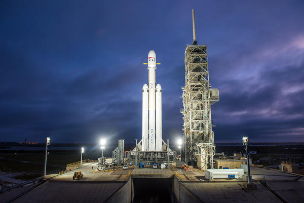 The Falcon Heavy is the latest advance from the rocket company SpaceX, and it's a step toward the company's goal of sending people to Mars.
