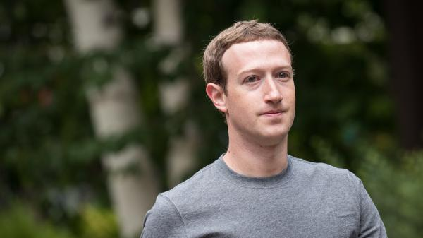 Mark Zuckerberg, CEO and founder of Facebook Inc., attends a conference in Idaho in July 2017. Zuckerberg has announced — and celebrated — a drop in the amount of time users are spending on Facebook.