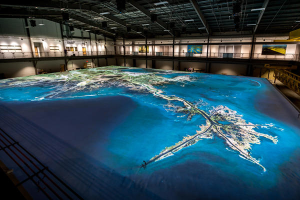 An inside look at the new model of the lower Mississippi River at LSU's Center for River Studies.