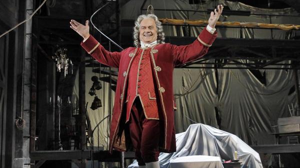 Kelsey Grammer onstage in the Los Angeles Opera production of Leonard Bernstein's <em>Candide</em>.