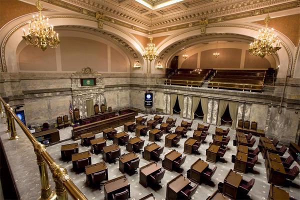 File photo of the Washington Senate gallery.