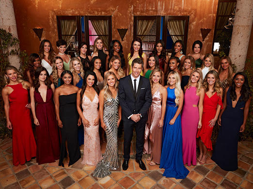 """In this picture of the cast of the 22nd season of ABC's hit romance reality series """"The Bachelor,"""" Rebekah Martinez, known as """"Bekah M"""" on the show, is second from left in the back row."""