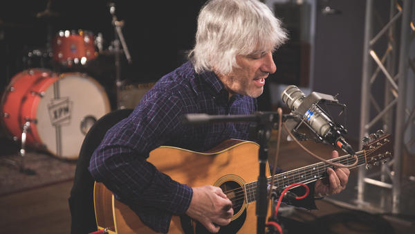 Lee Ranaldo in the World Cafe Performance Studio.