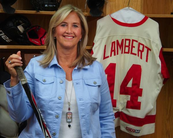 Cynthia Lambert was a Detroit News reporter covering the Detroit Red Wings for 12 seasons.