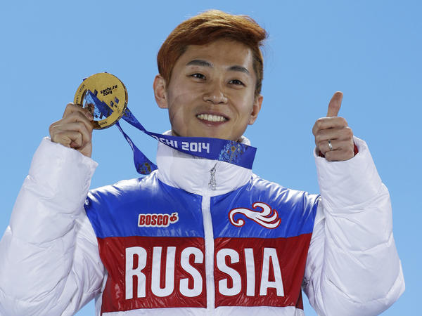 Short-track speedskater Viktor Ahn of Russia won a gold medal at the Winter Games in Sochi, Russia in 2014. Ahn and three former NHL players are among 32 Russian athletes who filed appeals against doping charges on Tuesday.