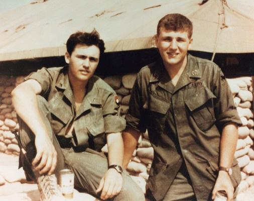 Brothers Tom and Chuck Hagel served together in the same infantry unit when they volunteered to go to Vietnam.