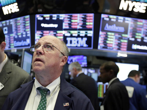Stocks rebounded Tuesday, a day after the Dow Jones industrial average's record 1,175-point plunge.
