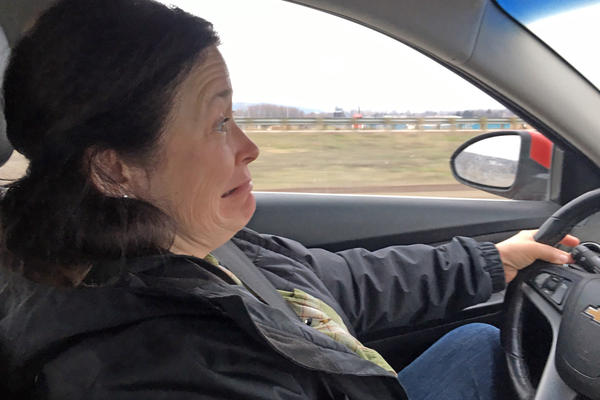 Roberta Vining has to ''Shoot the Gap'' twice every weekday on her commute to work in Yakima, Washington. She says despite a new state report saying the Rattlesnake Ridge landslide is slow moving, it still freaks her out.